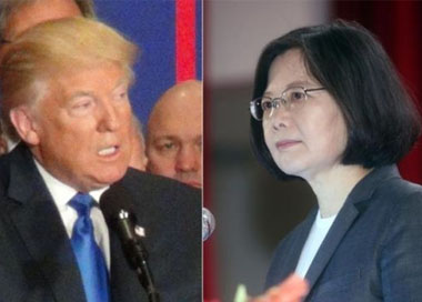 特朗普拒绝与蔡英文通话