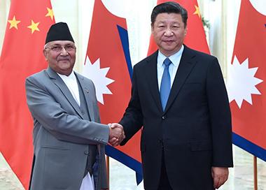 习近平会见尼泊尔总理