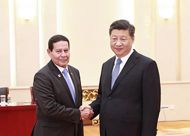 习近平会见巴西副总统