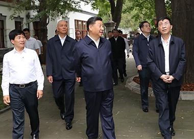 习近平视察北京香山革命纪念地