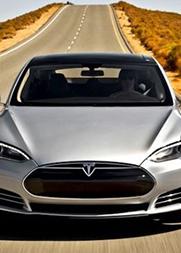 特斯拉S型电动跑车最高速度测试