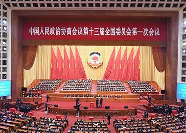 全国政协十三届一次会议闭幕会