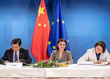 中国与欧盟首次签署民航领域协定