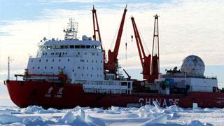 我国第36次南极科考船