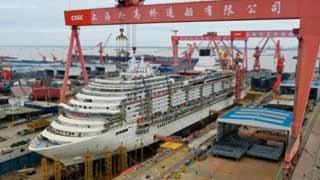 首艘国产大型邮轮全船贯通